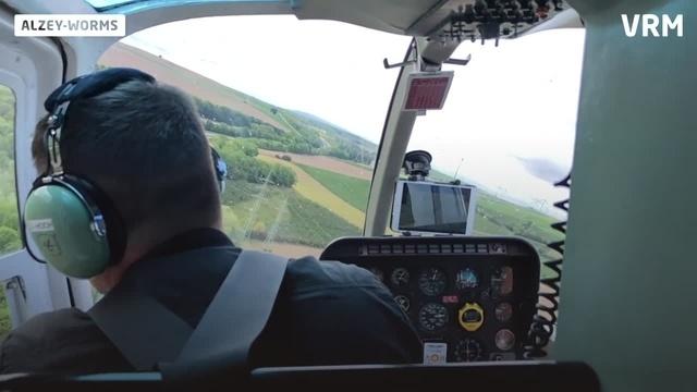 Mit dem Helikopter zum Leitungscheck
