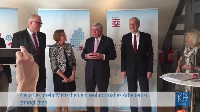 Ministerpräsident Volker Bouffier in Nidda
