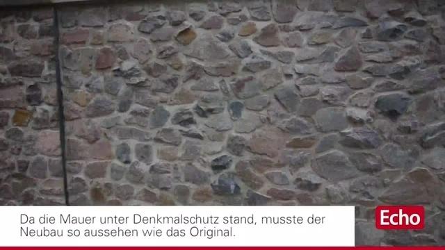 Darmstadt: Einweihung der rekonstruierten Mauer an der Dieburger Straße