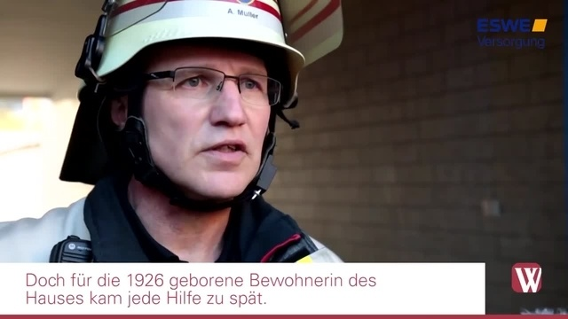 Frau kommt bei Brand in Wiesbaden-Biebrich ums Leben