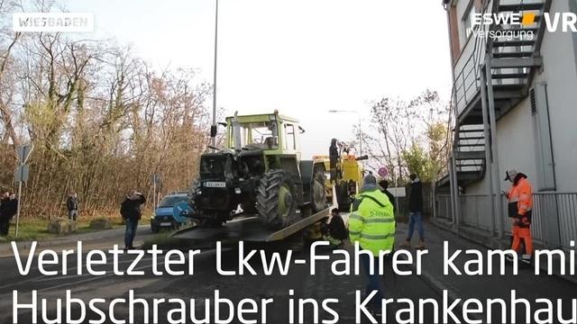 Traktorunfall während Demo in Wiesbaden