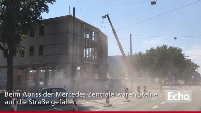 Rheinstraße in Darmstadt gesperrt