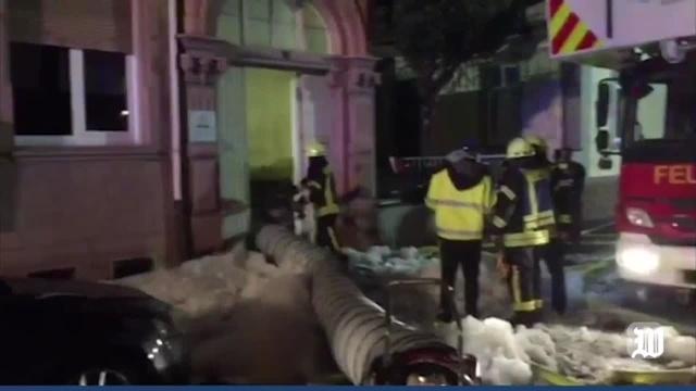 Worms: Brand in der Gewerbeschulstraße