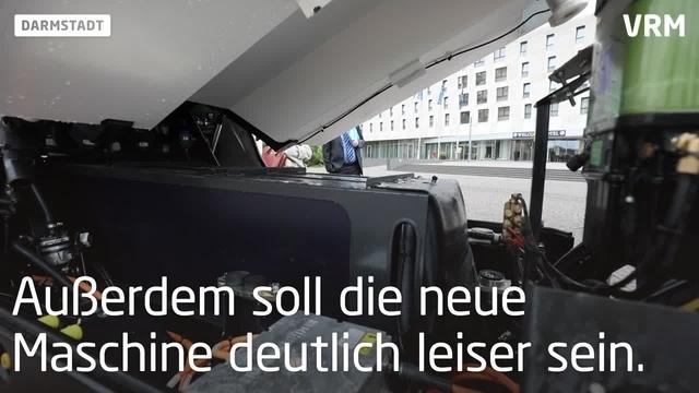 Darmstadts City wird jetzt elektrisch gereinigt
