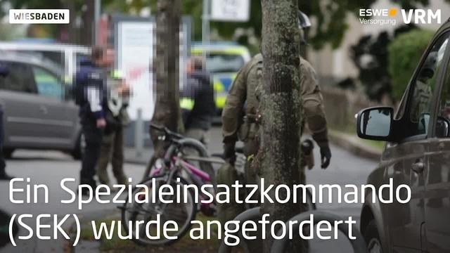 SEK-Einsatz in Wiesbaden