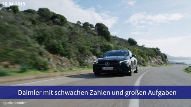 Aktie im Fokus: Daimler mit schwachen Zahlen und großen Aufgaben
