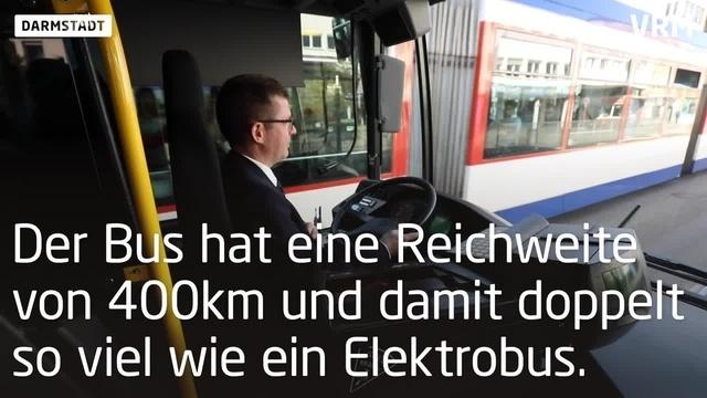 Erster Brennstoffzellenbus in Hessen unterwegs