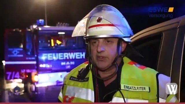 Schwerer Unfall auf der B260 bei Wambach