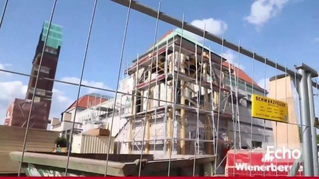 Baubegehung auf der Mathildenhöhe