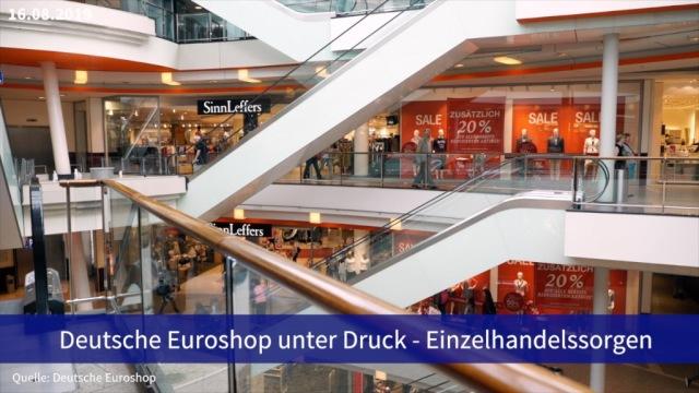 Aktie im Fokus: Deutsche Euroshop von Einzelhandelssorgen belastet