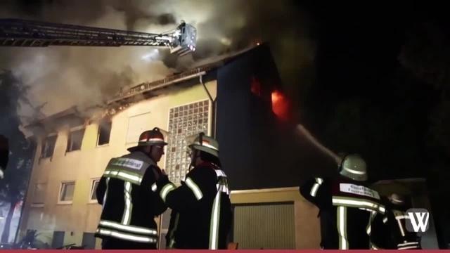 Unterkunft für Obdachlose brennt in Mainz-Kastel