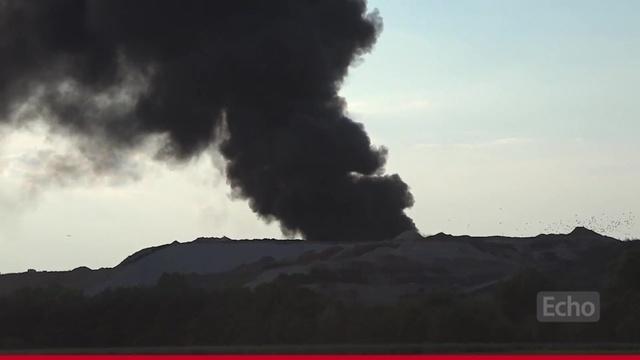 Feuer auf der Mülldeponie in Büttelborn