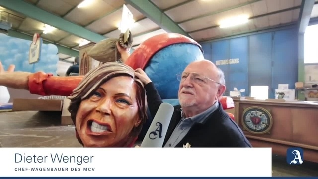 Mainz: Der Kopf des Donald Trump