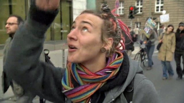 Marsch der Chemtrails-Gegner