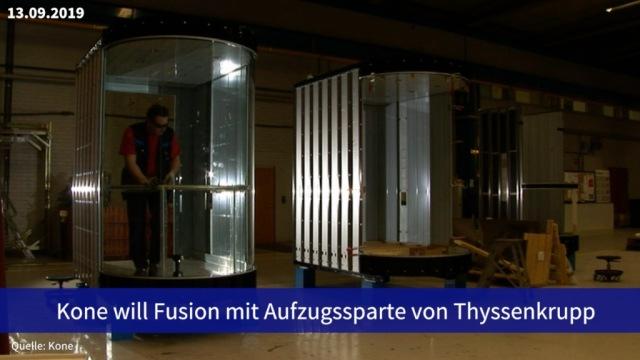 Aktie im Fokus: Kone will Fusion mit Aufzugssparte von Thyssenkrupp