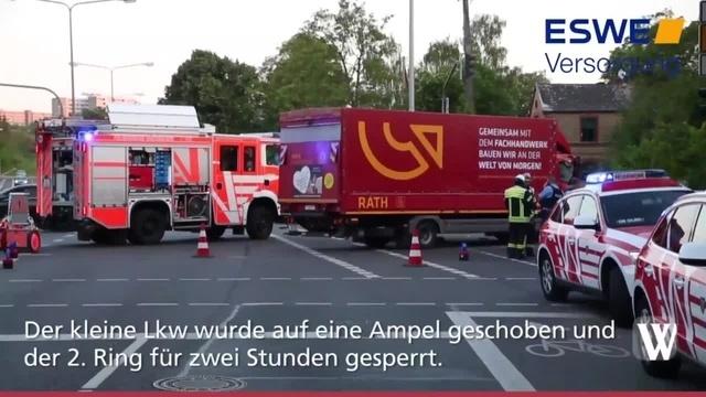 Lkw-Unfall in Wiesbaden