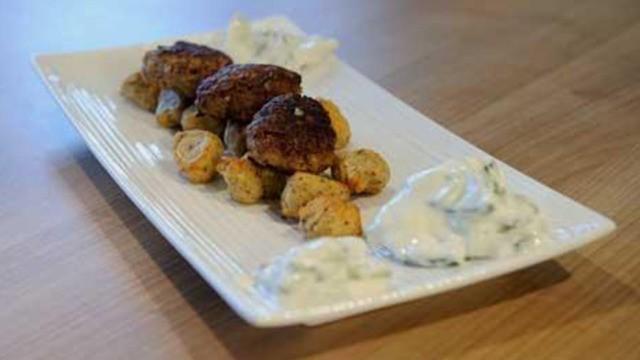 Kartoffel-Bonbons mit Hackbällchen