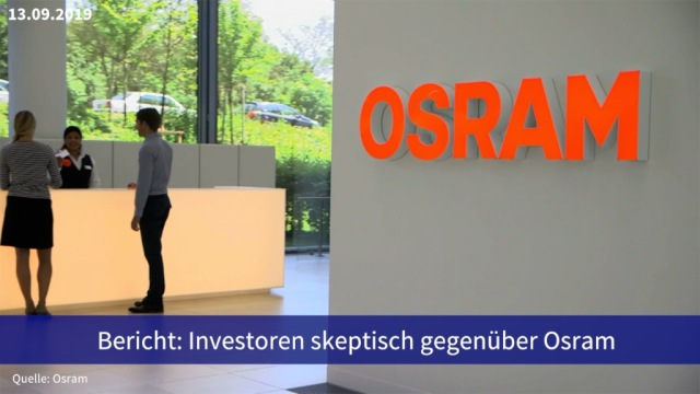 Aktie im Fokus: Bericht: Investoren skeptisch gegenüber Osram
