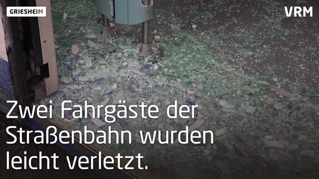 Schwerer Straßenbahnunfall in Griesheim