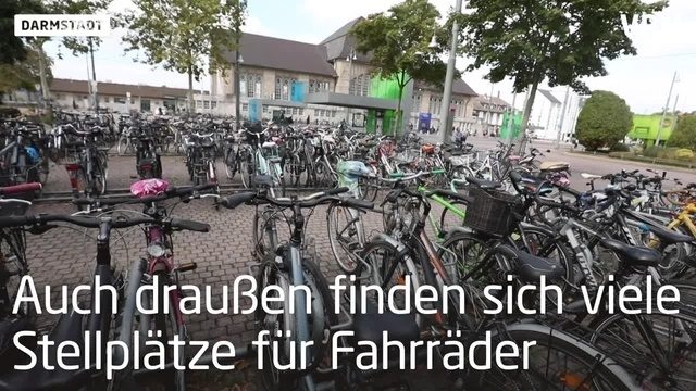 Fahrradparkhaus am Hauptbahnhof in Darmstadt
