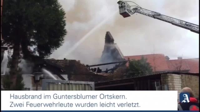 Hausbrand in Guntersblum