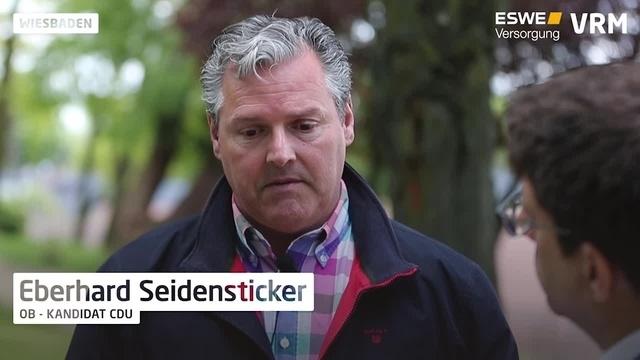OB-Wahl in Wiesbaden: CDU-Kandidat Seidensticker