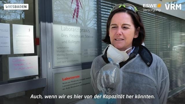 Seit einer Woche wird in Wiesbaden auf Corona getestet