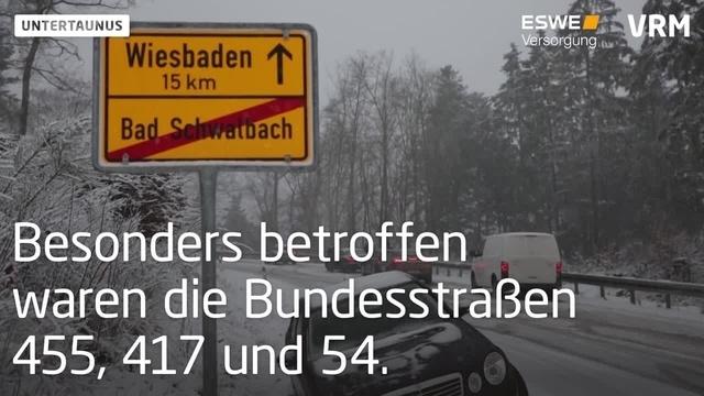 Untertaunus: Verkehrsbehinderungen durch Schnee