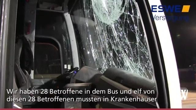 Reisebus prallt gegen Fahrbahnteiler: Unfall auf A3 bei Raunheim
