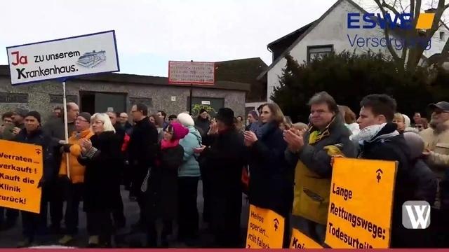 Bad Schwalbach: Protest gegen Klinik-Schließung