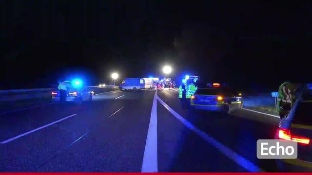Junger Mann stirbt bei Unfall auf der A67 bei Büttelborn