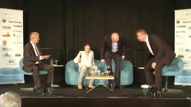Katja Kraus und Dirk Metz auf der Blauen Couch