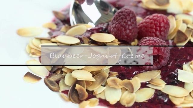 Blaubeer-Joghurt-Creme