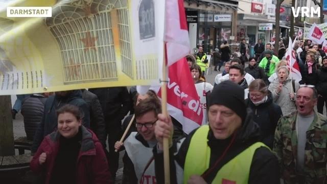 Warnstreik der Hochschulen in Darmstadt