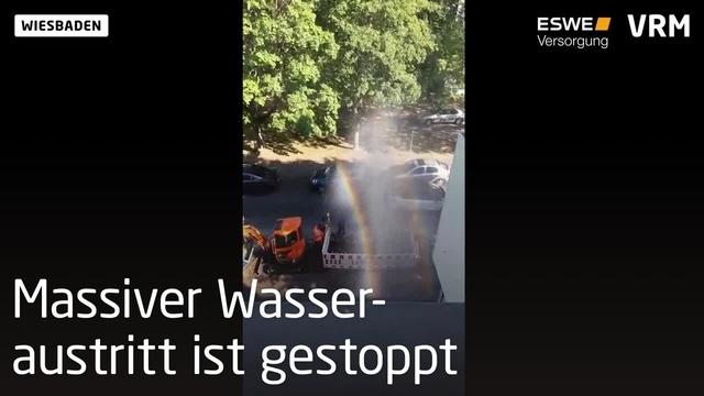 Wasserrohrbruch in Talheim