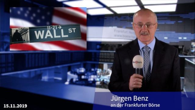 Neues Allzeithoch an der Wall Street hält Dax im Plus