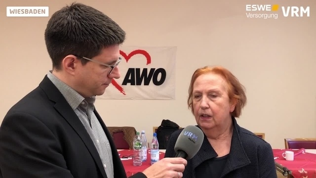 Pressekonferenz der Awo in Wiesbaden: Elke Wansner