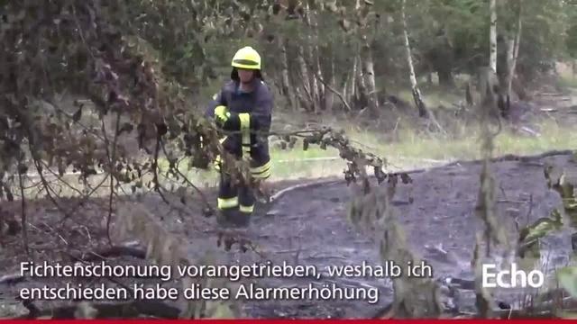 Flächenbrand bei Büttelborn