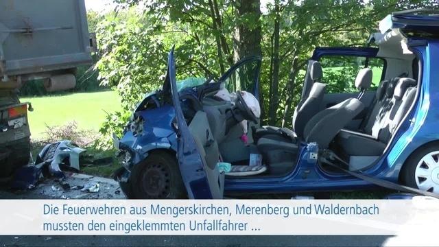 Unfall zwischen Mengerskirchen und Waldernbach