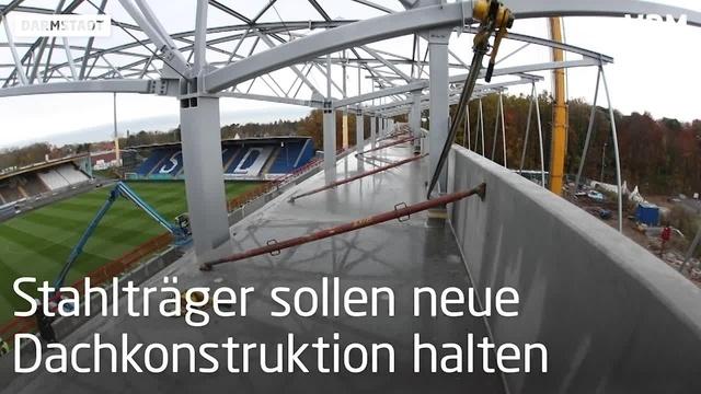 Stahlkonstruktion im Lilien-Stadion
