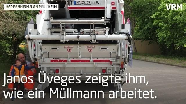 Müllmann Louis sammelt schon in jungen Jahren Müll
