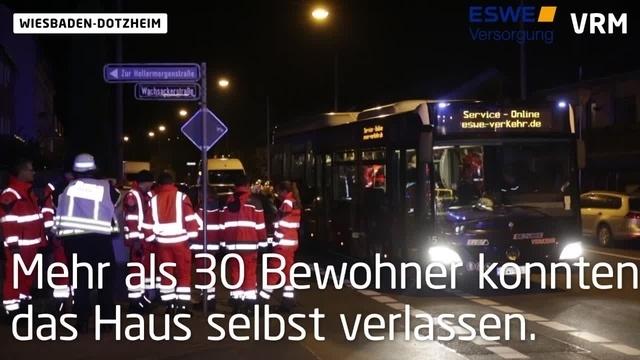 Wohnungsbrand in Wiesbaden-Dotzheim