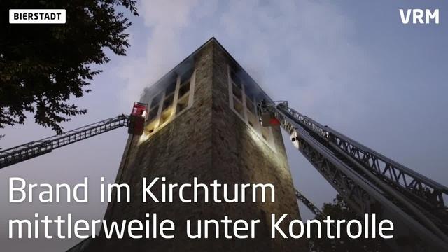 Bierstadt: Brand in Turm der St. Birgid-Kirche