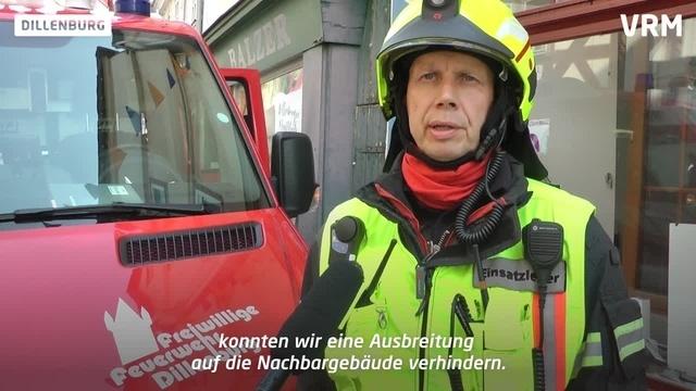 Brand in der Dillenburger Altstadt