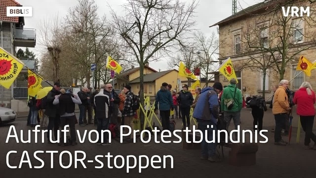Anti-Atombündnis demonstriert in Biblis