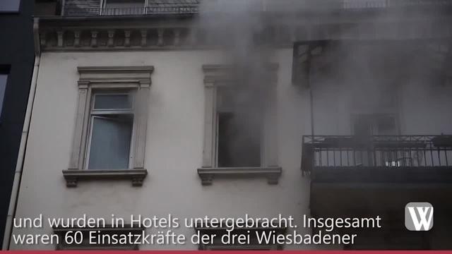 Wiesbaden: Brand in Bahnhofstraße