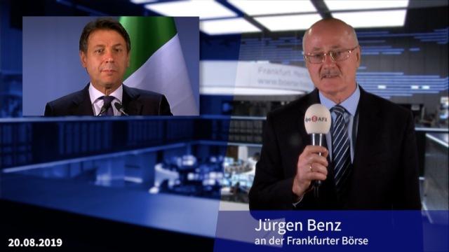 Conte-Rücktritt schickt Dax erneut auf Tauchstation