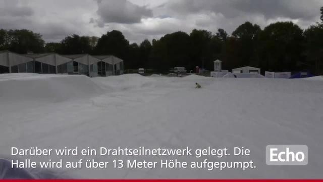 Darmstadt: Traglufthalle für die Außenbecken des Nordbads