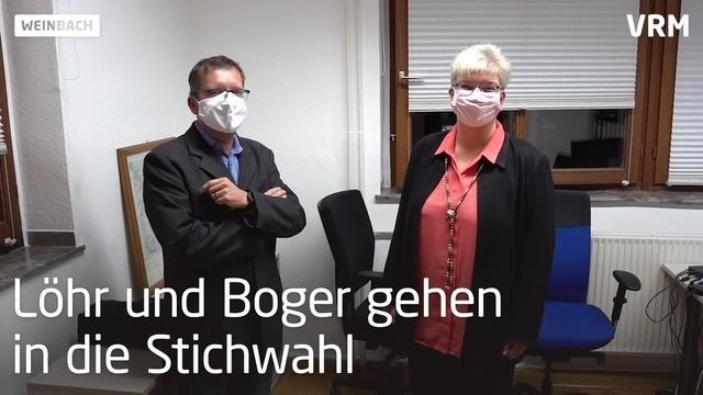 Bürgermeisterkandidaten in Weinbach gehen in die Stichwahl
