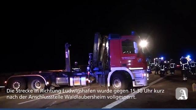 Tödlicher Unfall auf der A61 bei Waldlaubersheim
